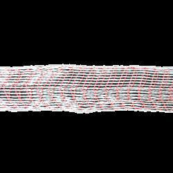 Формовочная сетка бело-красная 125 мм 50 м